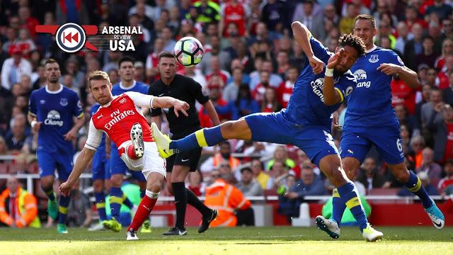 Aaron Ramsey Everton Goal